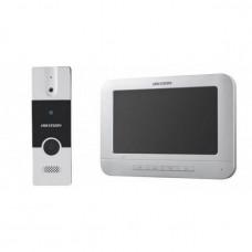 Купить комплект видеодомофон и вызывная панель Hikvision DS-KIS204