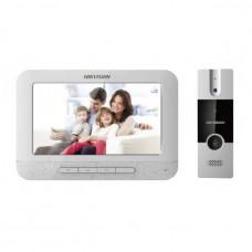 Купить комплект видеодомофон и вызывная панель Hikvision DS-KIS202