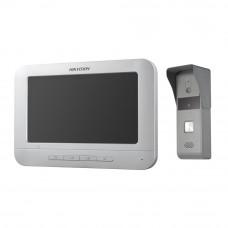 Купить комплект видеодомофон и вызывная панель Hikvision DS-KIS203