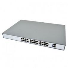 Купить ATIS PoE-10026-24P-4S свич на 24 порта неуправляемый