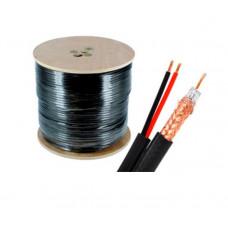 Купить коаксильный кабель для видеонаблюдения RG590-CU+2*0,75 PE 305M